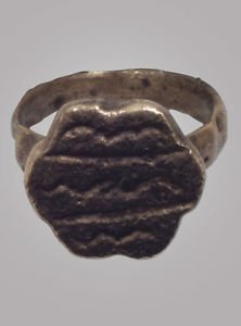 Ancient Byzantine Mens Ring C.600-900A.D. Size 9 1/4  (18.1mm)(brr161)