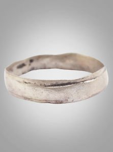 Ancient Viking Silver over Bronze Wedding Band Jewelry C.866-1067A.D. Size 8 1/2