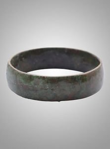 Ancient Viking Wedding Band Jewelry C.866-1067A.D. Size 10 1/4  (19.8mm)(Brr773)