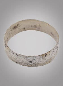Ancient Silver over bronze Viking Age Ring, C.866-1067A.D. Size 8 1/4  (17.9mm)(