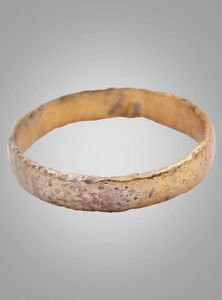 Ancient Viking Womans Wedding Band, Jewelry C.866-1067A.D. Size 6  (15.9mm)(Brr8