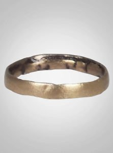 Ancient Viking  Wedding Band Jewelry C.866-1067A.D. Size 8 1/2   (18.7mm)(Brr678