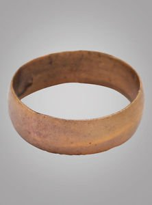 Authentic Ancient Viking Wedding Band Jewelry C.866-1067A.D. Size 8 1/2  (18.4mm