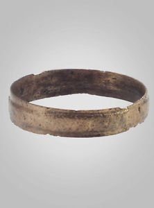 Ancient Viking Wedding Band Jewelry C.866-1067A.D. Size 10   (20.2mm)(Brr466)