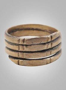 Viking Mans Anniversary Ring, Vintage Mans Wedding Band,  C.866-1067 A.D. Size 1
