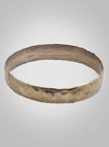 Authentic Ancient Viking Wedding Band Jewelry C.866-1067A.D. Size 10 1/2   (20.5