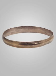 Ancient Viking Wedding Band Jewelry C.866-1067A.D. Size 11  1/2 (20.9mm)(Brr337)