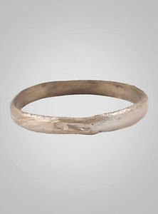 Ancient Viking Silver Over Bronze Wedding Band Jewelry C.866-1067A.D. Size 11 1/