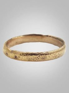 Ancient Viking Wedding Band Jewelry C.866-1067A.D. Size 12 (21.2mm) (Brr422)