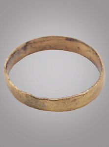 Scandinavian Viking Wedding Band Jewelry, Norse Mans Ring, C.866-1067A.D. Size 7