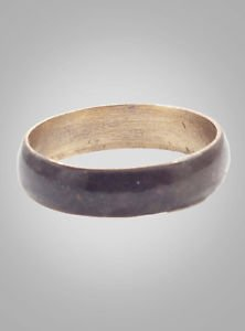 Ancient Viking Natural Bronze Wedding Band Jewelry C.866-1067A.D. Size 12   (21.