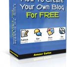 How to Create Your Own Blog for FREE.