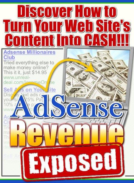Adsense revenue exposed.