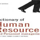 DICTIONARY OF HUMAN RESSOURCES
