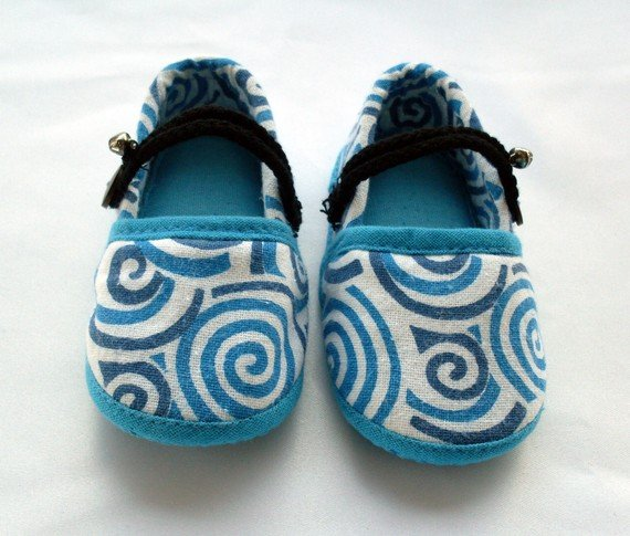 Funky colourful childrens shoes for boys or girls. Blue. Toddler medium size