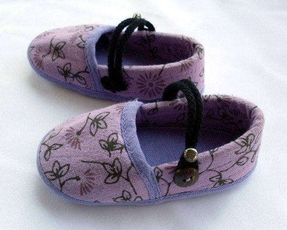 Funky colourful childrens shoes for boys or girls. Purple lavender. Toddler medium size