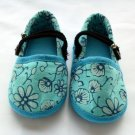 Funky colourful toddler childrens shoes for boys or girls. Blue. Large size