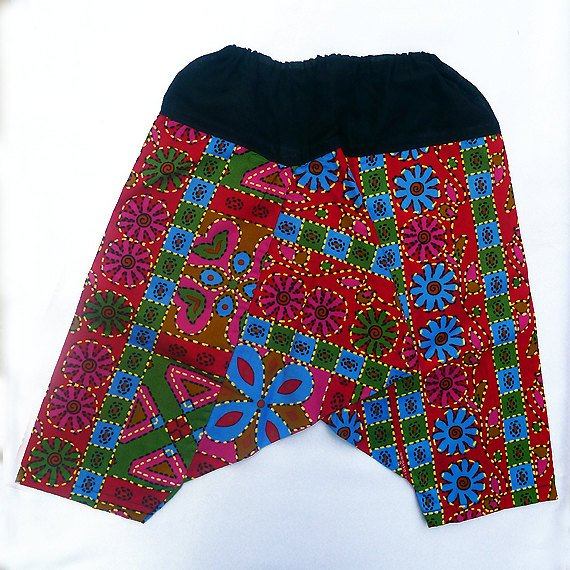 Funky toddler childrens clothing. 2 - 4+ yrs. Adjustable size. Reversible PANTS for boys and girls.