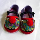 Funky colourful children's shoes for both boys or girls. Purple red blue. Toddler small size