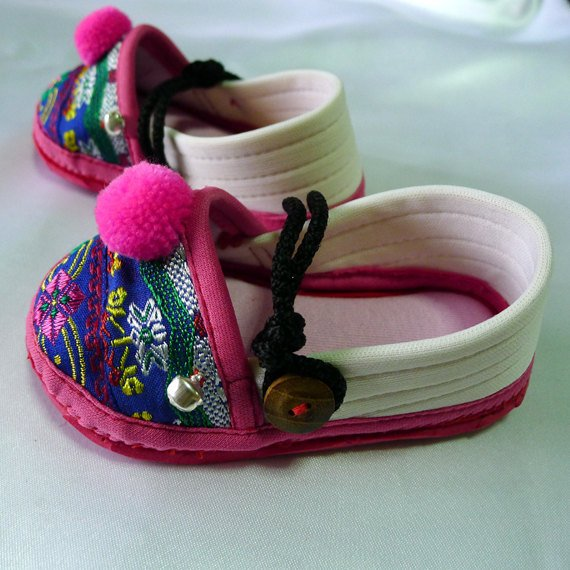 Funky colourful girls childrens shoes. Pink white blue. Toddler small size