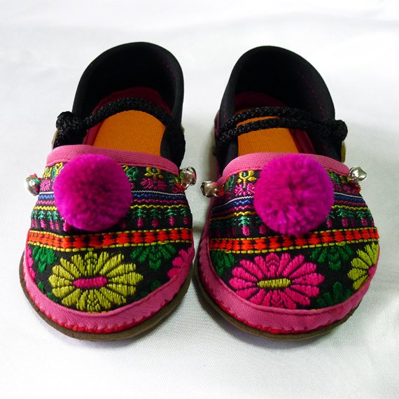 Funky colourful childrens shoes for both boys or girls. Black pink orange. Toddler small size