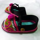 Funky colourful childrens shoes. Black, pink and blue. Toddler large size