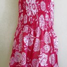 Funky pink summer sun dress. Colorful toddler girls children&#39;s clothing. Adjustable size.