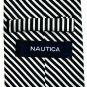 Nautica Black Silver Stripe Design 100% Silk mens necktie tie