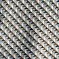 Van Heusen Beige Brown Blue Geometric Design 100% Silk mens necktie