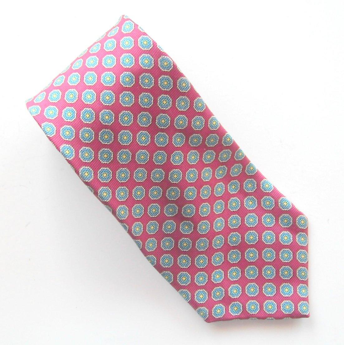 Brooks Brothers Red Blue Yellow Design mens 100% Silk necktie tie