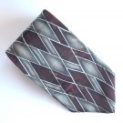 Arrow Red Gray Silver Geometric Design Silk Mens Necktie