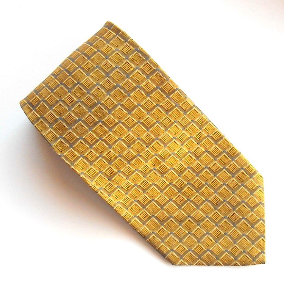 JZ Richards Golden Yellow Design 100% Silk mens necktie tie