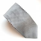 Todays Man Italy Black Silver Design Silk mens necktie tie