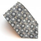 Zylos George Machado Grey Blue Art Deco Design Mens Silk Necktie Tie