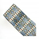 Brother's Hand Made Silver Modern Symmetric Design Silk Necktie Tie