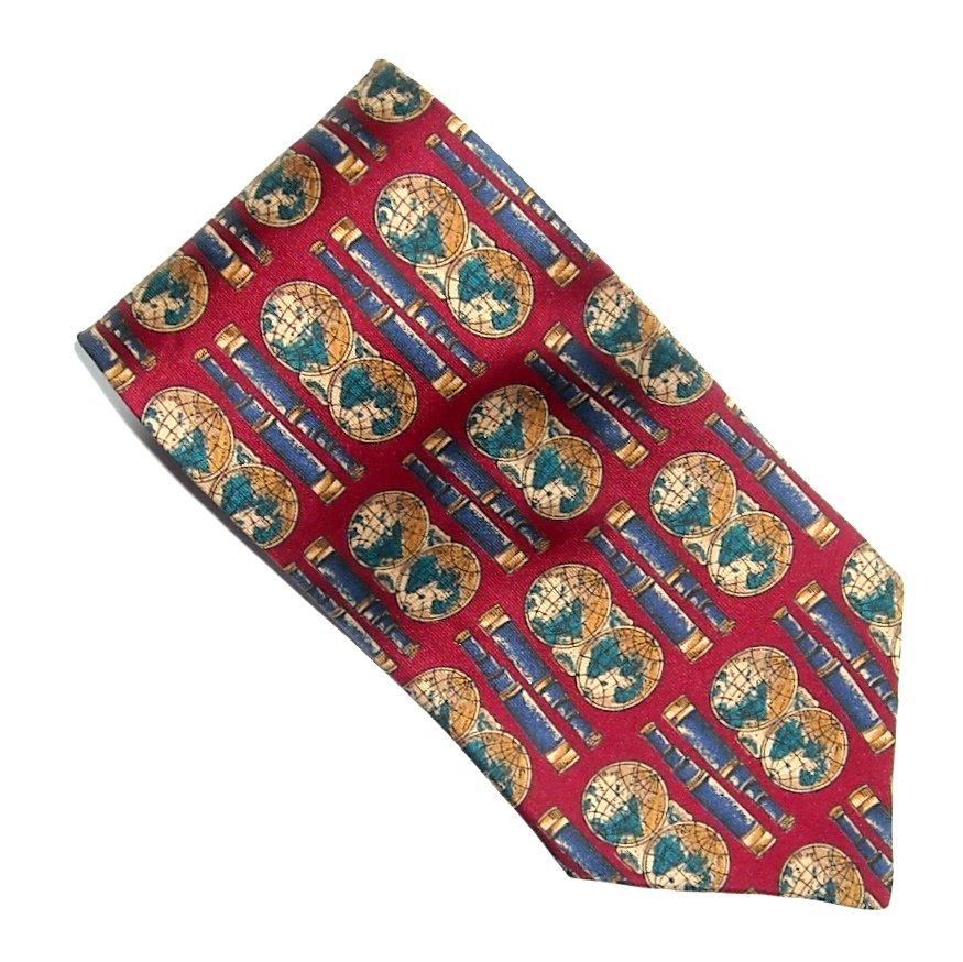 Haggar World Design Made In USA Modern Silk Necktie Tie