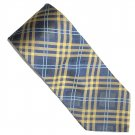 Tommy HilFiger Blue Gold Striped Scottish Design Silk Mens Necktie Tie