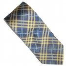 Tommy HilFiger Blue Gold Striped Scottish Design Silk Mens Necktie Tie