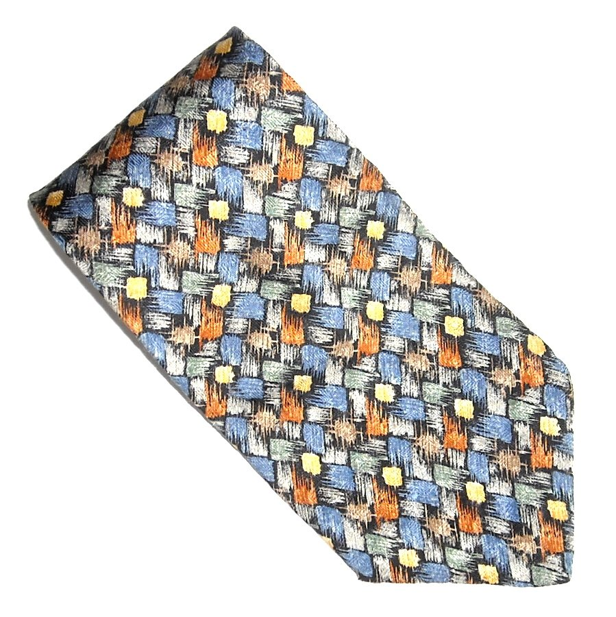 Cocktail Collection Woven Fall Colors Design Silk Necktie Tie