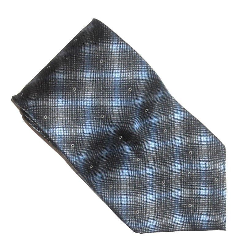 Bill Blass Blue Black Geometric Design Mens Silk Necktie Tie