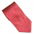 Nautica Red with White Dotted Lines Design 100% Silk mens necktie tie