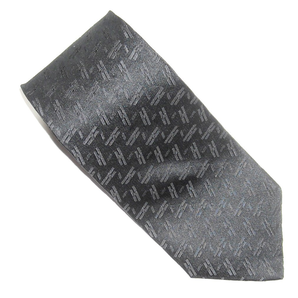 Zylos George Machado Black with Black Design mens 100% Silk necktie tie