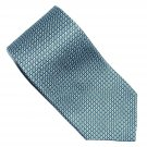 Kenneth Cole Reaction Blue Green Grey Black Geometric Design Mens 100% Silk Necktie Tie