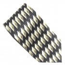 Croft & Barrow Black Beige Brown Design mens 100% Silk necktie tie