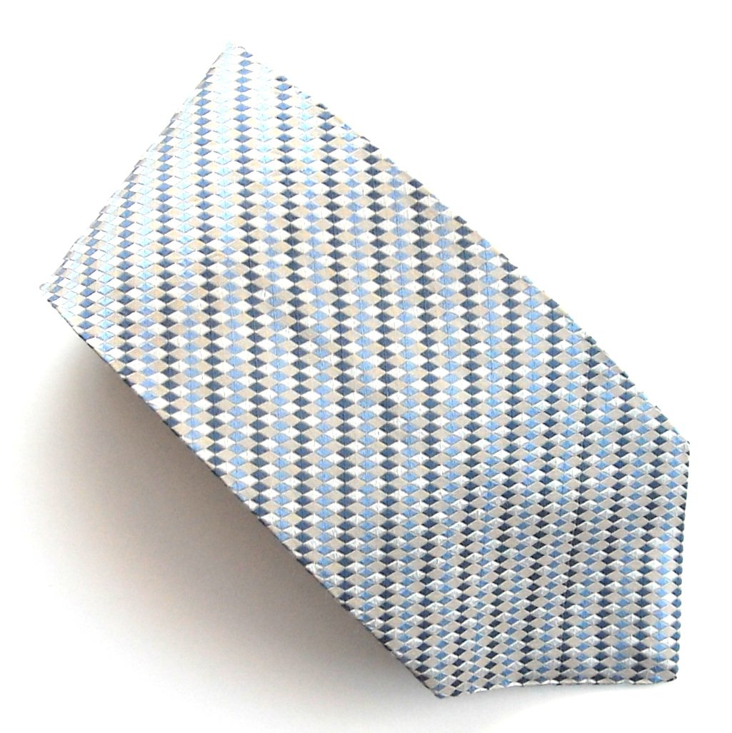 Geoffrey Beene Diagonal Blue Stripes Design mens 100% Silk necktie tie