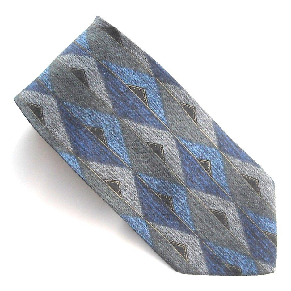 Today's Man Italy Navy Blue Gray Green Design 100% Silk mens necktie tie