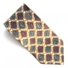 Today's Man Italy Burgundy Gray White Drop Design 100% Silk mens necktie tie