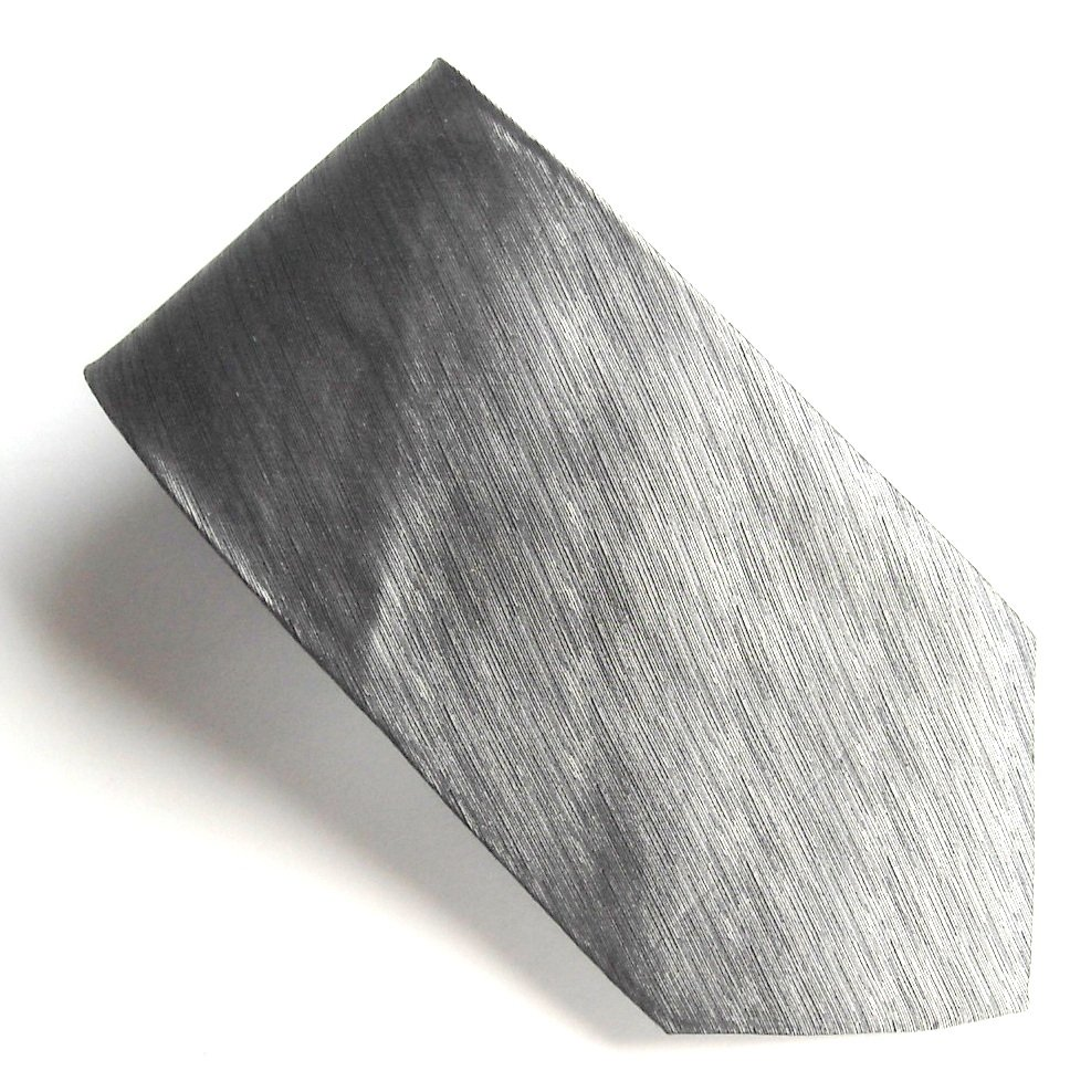 Pierre Cardin Silver Gray Art Deco Design mens 100% Silk necktie tie