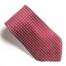 John Henry Burgundy Christmas Novelty mens 100% Silk necktie tie