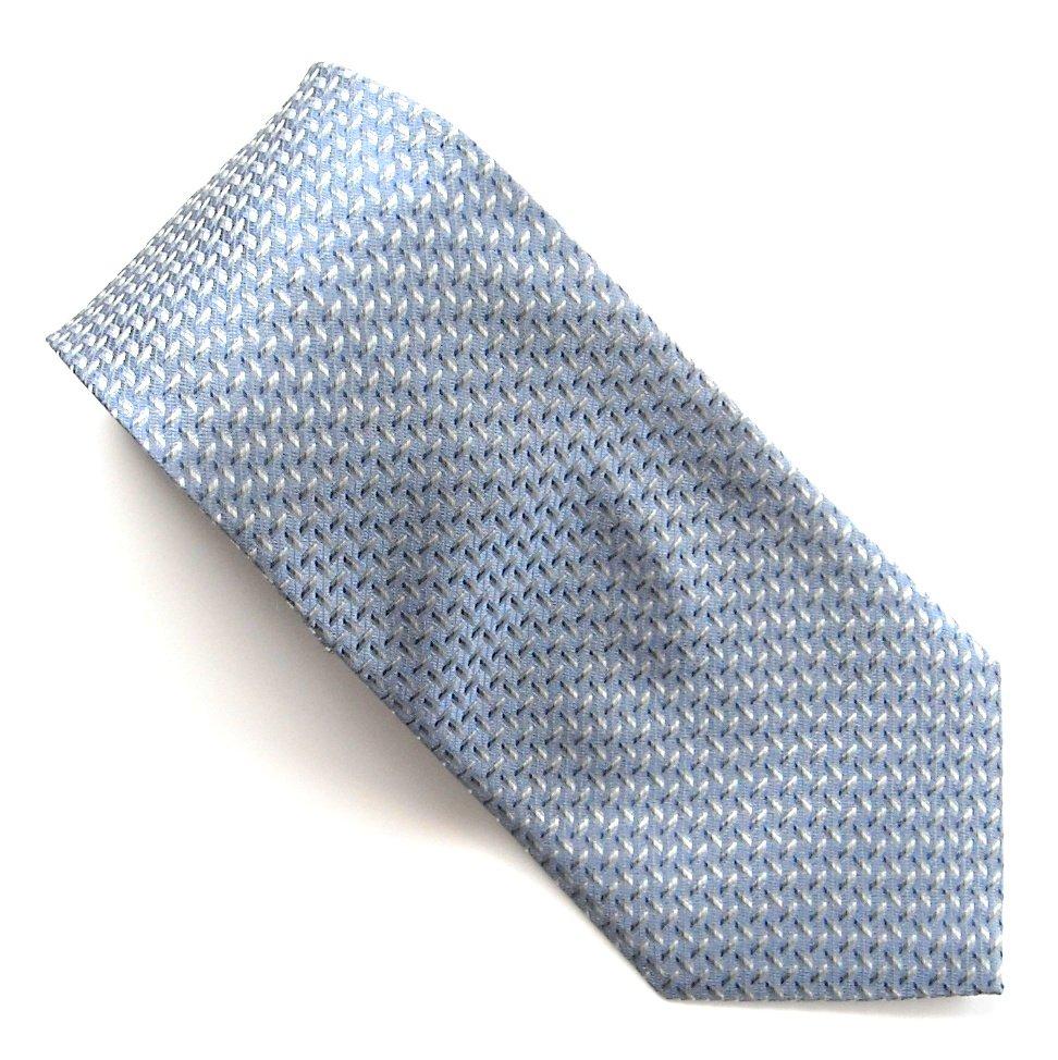 Geoffrey Beene Grey Blue Silver Design mens 100% Silk necktie tie